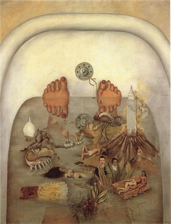 Frida kahlo ce que l 39 eau m 39 a donn 1938 temps de souffrance maximale et de totale for Peindre sa baignoire