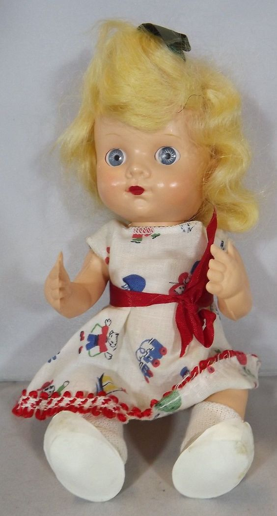 English Pedigree baby ...a promotional doll for Johnson's Wax ....stands at 10 inches tall. What a little cutie.