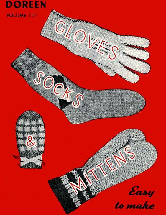 Gloves, Socks & Mittens | Volume 110 | Doreen Knitting Books