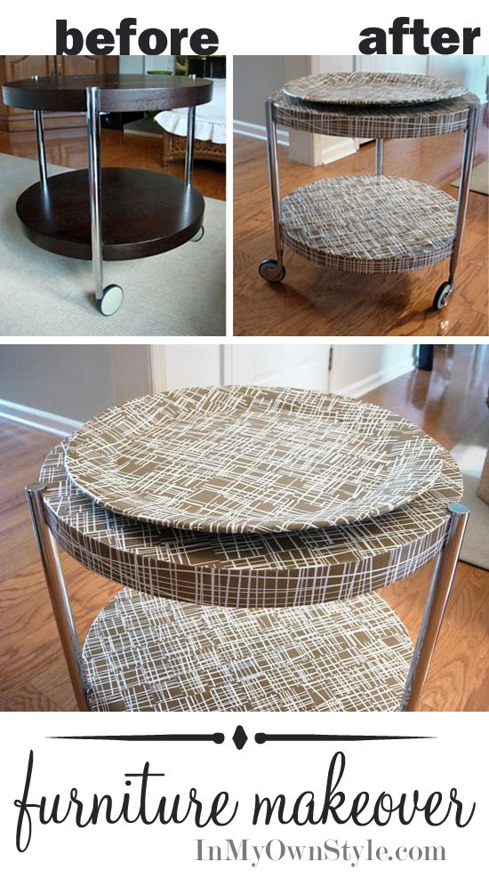 How To Make A Basket Weave Effect : Before and after table makeover weaving wraps