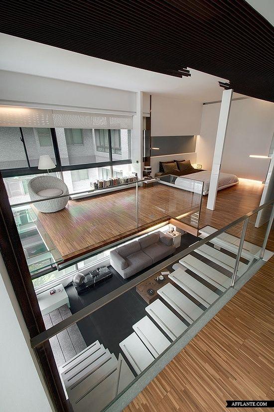 En la mayor parte del mundo, el conocimiento es una construcción imaginaria. ´´Helen Keller´´        Hallway/Staircase At Casa Demo Taipei Taiwan By TBDC