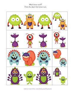 Preschool Printables: Little Monster's Printable