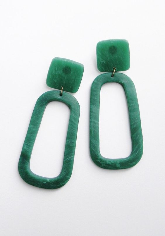 Resin Oversized Statement Earrings