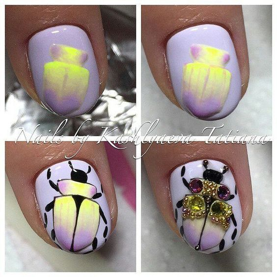 awesome Nail Art step by step...