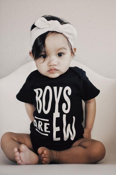 Custom, black tshirt,Funny, Boys are ew, Romper, baby, creeper, bodysu – ReezThings