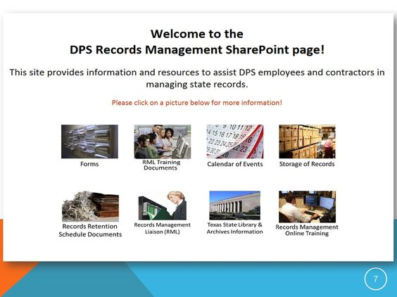The Texas Record E Records Conference 2014 Streamlining With Sharepoint Records Management Sharepoint Documents Organization