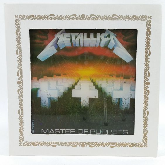 Vtg 1986 METALLICA Master of Puppets Carnival Prize Mirror Heavy Metal 6 x 6