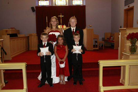 My little brother and my husbands little brother and his niece! The two ring bearers and the flower girl.