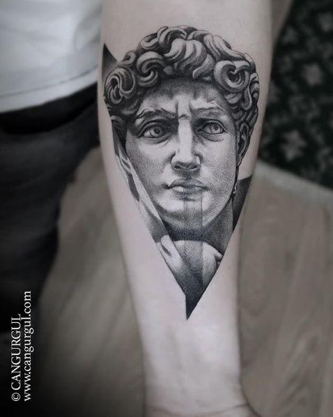 30 Best Tattoos Inspired By Classical Art Cool Tattoos David Tattoo Statue Tattoo