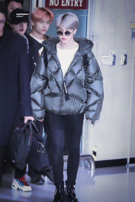 BTS JIMIN airport fashion