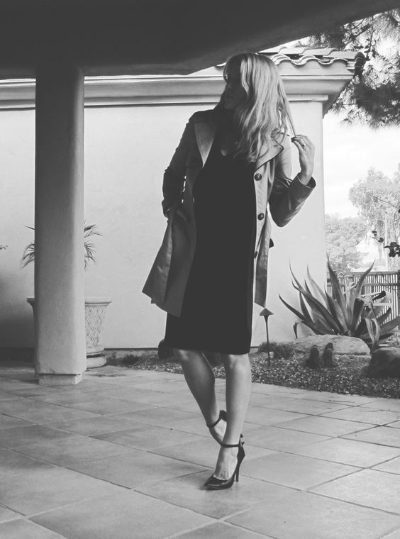 #Peplum dress: #Anthropologie Trench coat: #H&M Heels: #Aldo