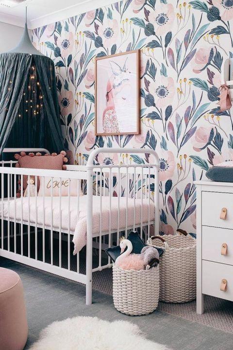 Pin By Ani Handayani On Girl Bedroom Inspiration Baby Girl Nursery Pink Pink Nursery Walls Girl Nursery Pink