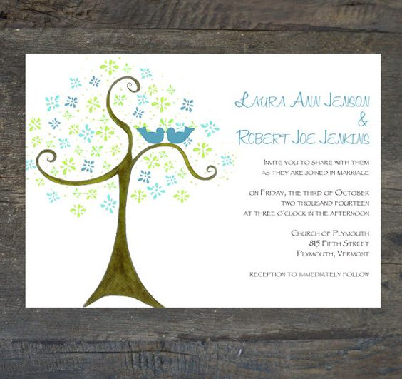 Wedding InvitationLove Birds by SilhouetteDesign on Etsy, $2.00