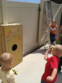 Trunk or Treat: Winnie the Pooh Game. Directions for making bees for bee toss.