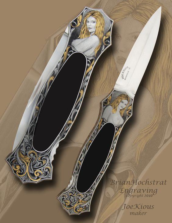 Hand Engraved Knives by Brian Hochstrat