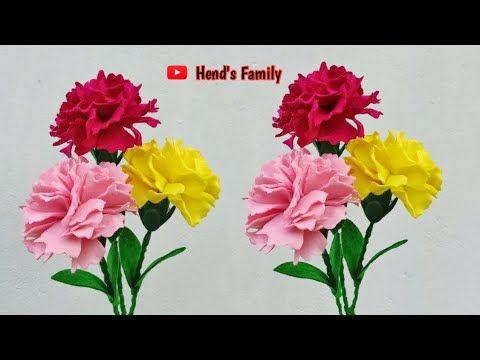 Fiori Di Garofano In Feltro Fiori Di Flanella Garofano Youtube In 2020 Carnation Flower Felt Flower Tutorial Flower Bouqet