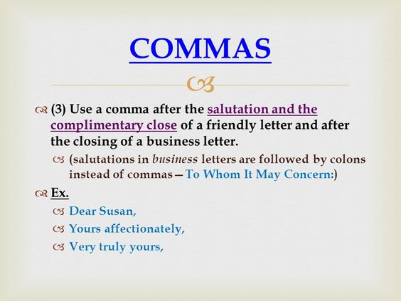 Image Result For Comma Rules With Images To Share Punctuation   Salutation  Punctuation  Salutation Punctuation