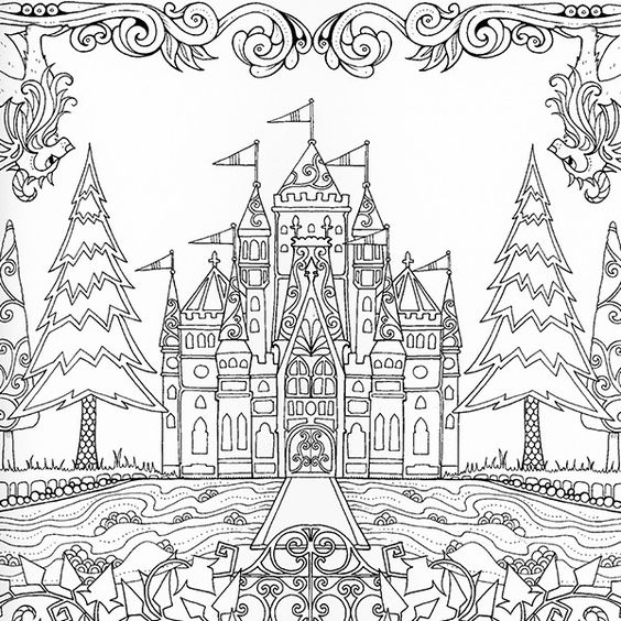 alphabet coloring pages castle - photo#19