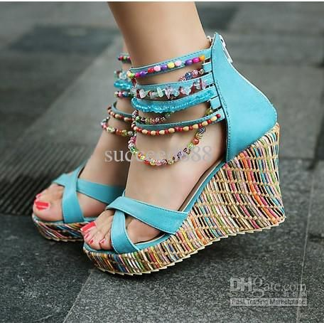 Beautiful Wedge Heels Tsaa Heel