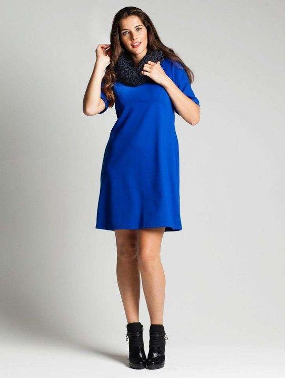 Abiti per le curvy - Vestito blu elettrico