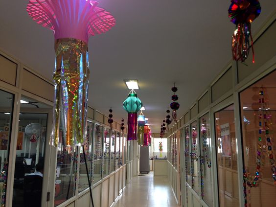 Colourful Diwali decorations & celebrations at HighQ India