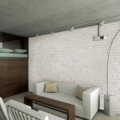 Cool for an accent wall fake distressed brick pretty for Distressed brick wall mural