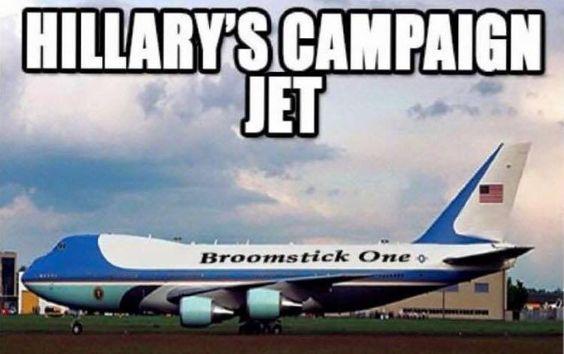Hilary's campaign jet