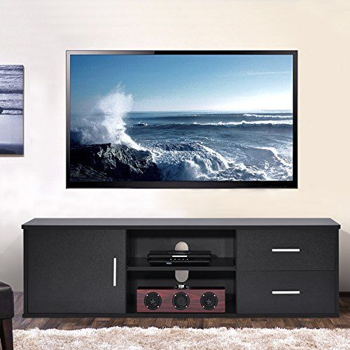 Ej Life Wooden Single Door Tv Stand Tv Unit Storage Console With
