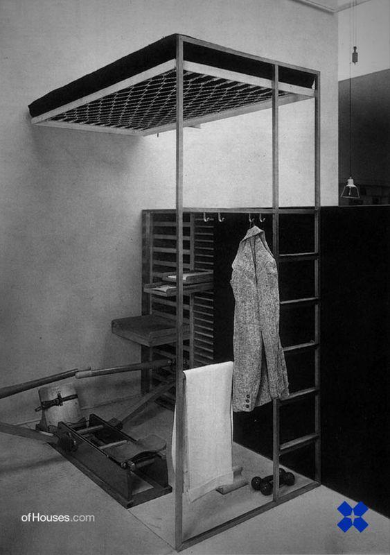 F. ALBINI, stanza per un uomo (dedicata a E. PERSICO), VI triennale di Milano, 1936