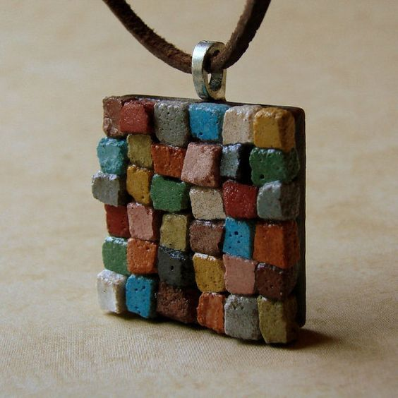CERAMIC BEADS_INSP ARMADO Y COLECCION_The+Patchwork+Quilt+Mosaic+Pendant++A+Dirt+Road+by+dirtroadsouth,+$15.00