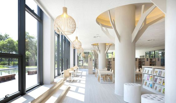 The Shanghai Jiading Public Library Reflects Surroundings #libraries trendhunter.com