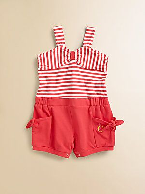Juicy Couture Infant's Striped Romper