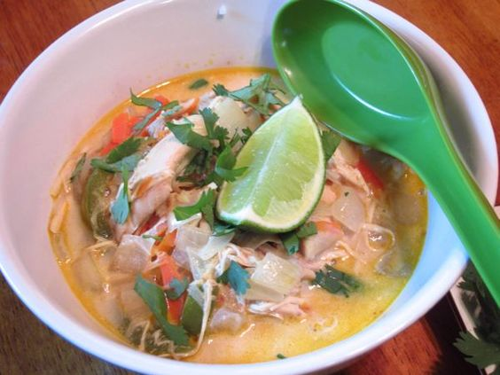 Curried Coconut Chicken Soup- made in the crock pot!
