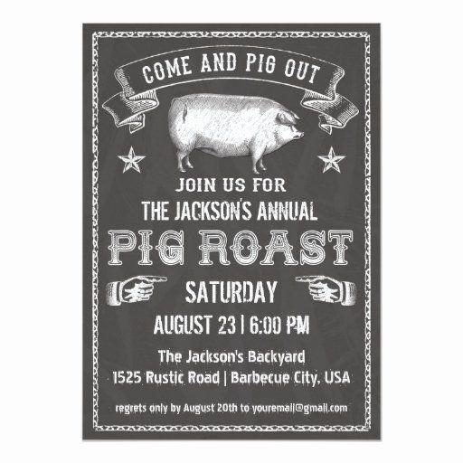 Pig Roast Invitation Template Elegant Chalkboard Vintage Pig Roast Invitation Pig Roast Invitation Pig Roast Pig Roast Party