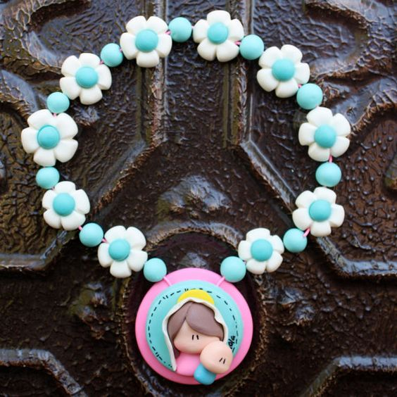 Childrens Rosary Baptism /First Communion/ Baby Shower virgeencita