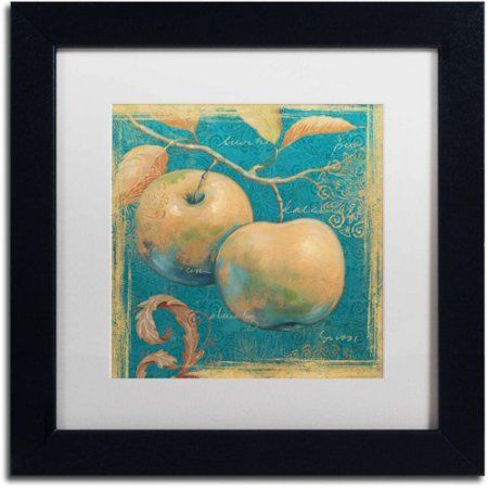 Trademark Fine Art Lovely Fruits II Canvas Art by Daphne Brissonnet, White Matte, Black Frame, Size: 16 x 16