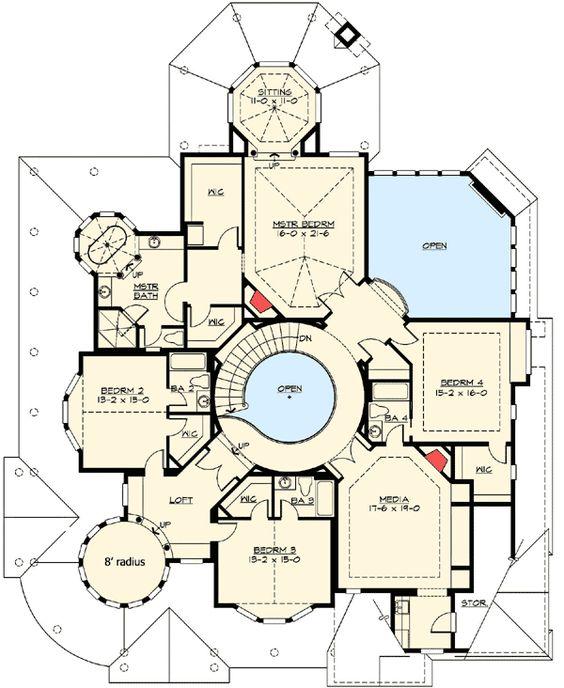House Plans Floors And 2nd Floor On Pinterest