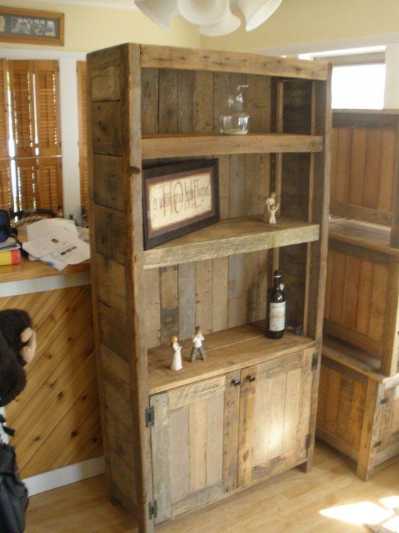 barnwood bookcase | hobbys | Pinterest | Estanterías, Puertas y Palés