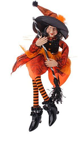 "Halloween Decoration - 20"" Sitting Witch (Orange) PerfectlyFestive http://www.amazon.com/dp/B013TCCTNQ/ref=cm_sw_r_pi_dp_08W5vb1R5XVX3"