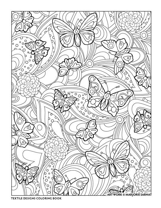 Creative Haven Textile Designs Coloring Book by Marjorie Sarnat ...