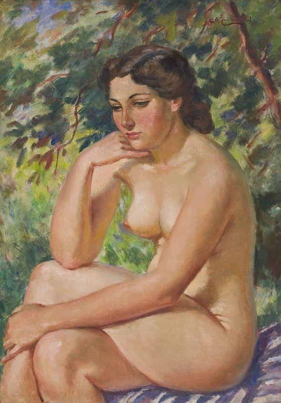 Stanislaw Zurawski - Seated Nude