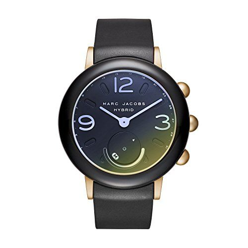 Marc Jacobs Women S Riley Hybrid Quartz Stainless Steel And Rubber Smart Watch Color Black Model Mjt1001 Smart Watch Black Models Marc Jacobs