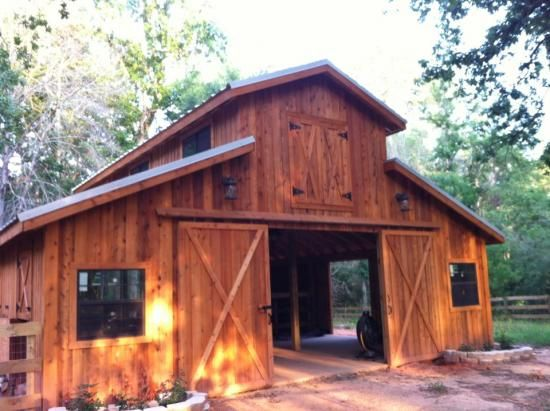 Barns pole barns and little houses on pinterest for Horse barn homes