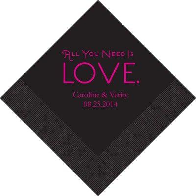 Servietten 'Love' Farb- & Größenwahl