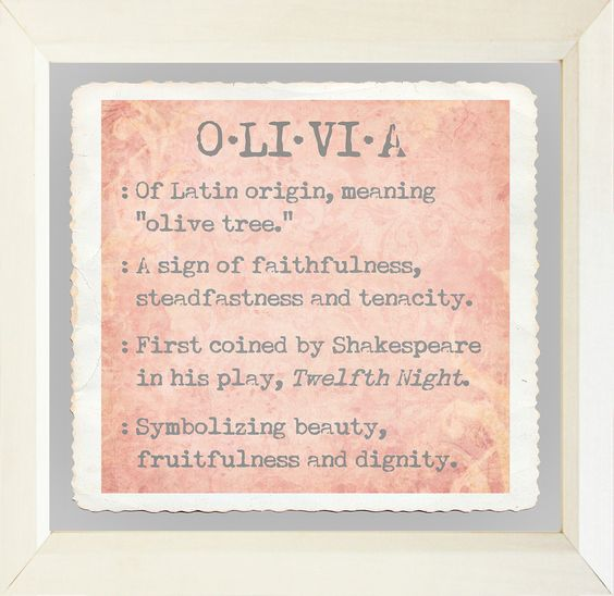 Baby Name Girls Olivia Framed Textual Art