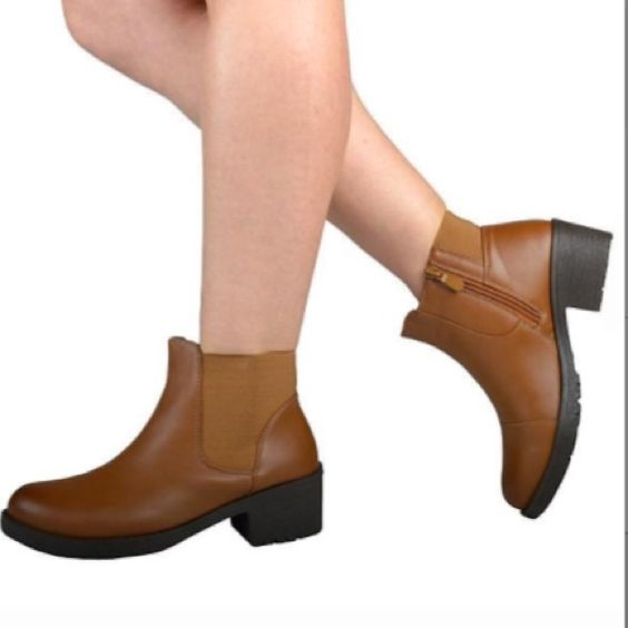 """Side elastic ankle high boots Side elastic boots for the comfortable fit with 2"""" height . Price is firm unless bundled . Also available in other sizes . Shoes Ankle Boots & Booties"""