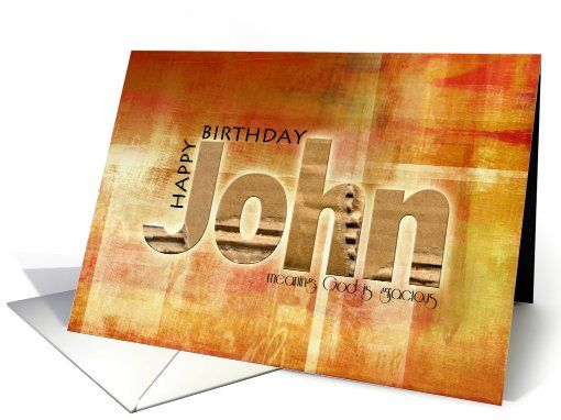 Image result for happy birthday john card