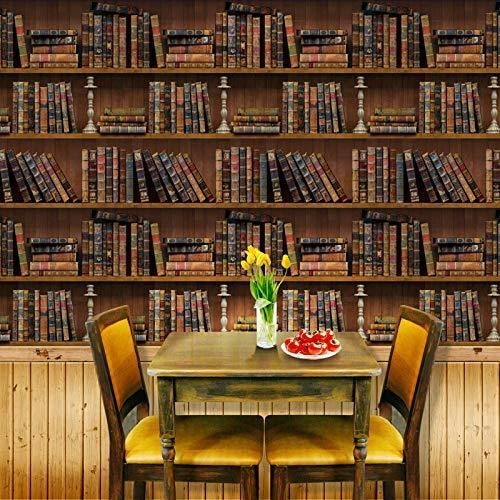 Peel-and-Stick Removable Wallpaper Books Book Library Vintage Literary