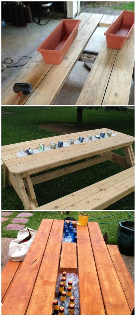 Timelessly Marvelously Functional And Easy DIY Picnic Table Ideas For Ideal  Lunchtime Outside | Diy Picnic Table, Picnic Tables And Picnics