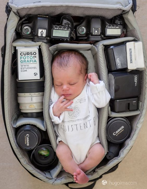 Pin for Later: Can You Guess the Professions of These Babies' Parents Based on These Photos? Mini Photographer's Assistant